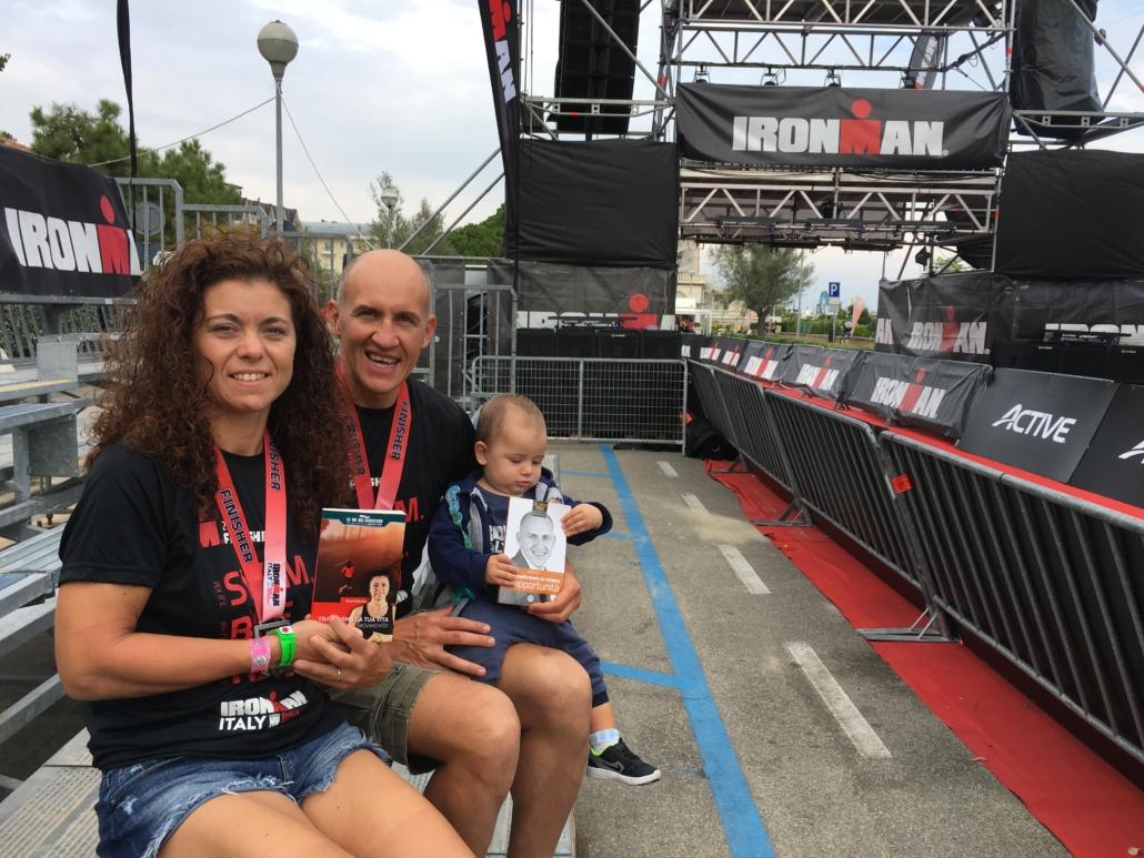 Adriano Gall IRONMAN con Elena Padovese